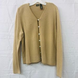 L.L Bean Long Sleeve Ribbed Knit Sweater